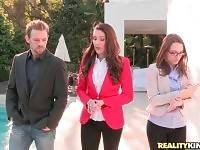 Real estate agent Samantha Ryan and her assistant Lily Love are making a deal with Erik Everhard.